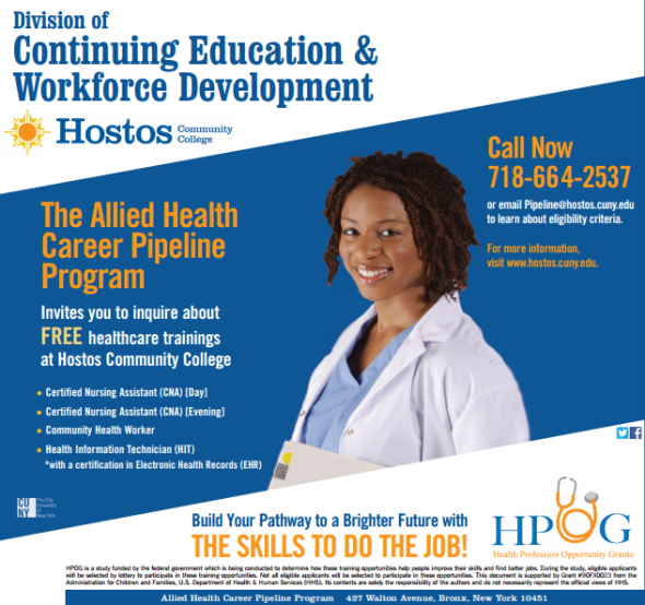 Hostos Community College Continuing Ed and Workforce Development
